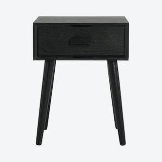 Lyle 1-Drawer Side Table - Black