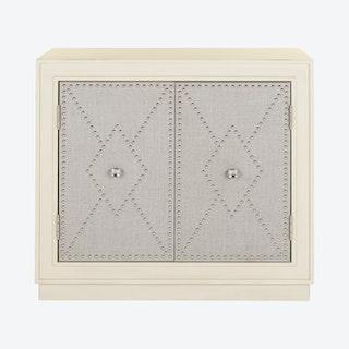 Erin 2-Door Chest - Antique Beige / Light Grey