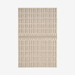 Kilim Hand Woven Area Rug - Ivory / Light Grey