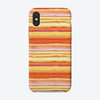 Orange Ink Phone Case