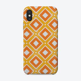 Orange Tiles Phone Case