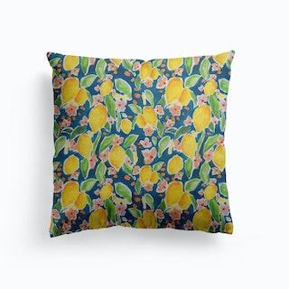 Watercolour Citrus Canvas Cushion