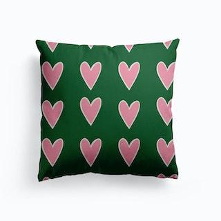 Heart Block Canvas Cushion