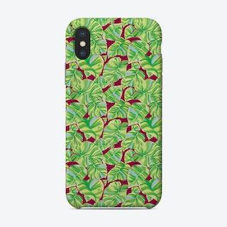 Green Monstera Phone Case
