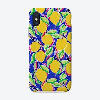 Cobalt Lemon Phone Case