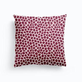 Wine Dots Canvas Cushion