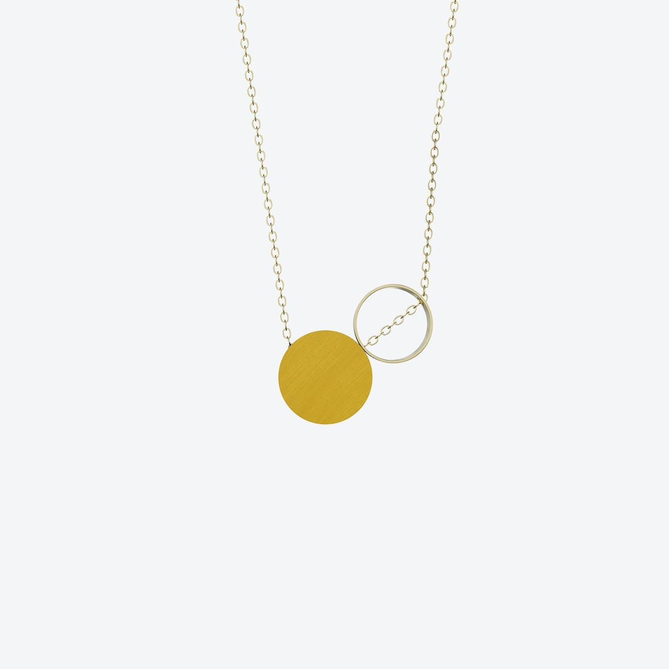 Komparativ Necklace in Mustard Wood & Brass