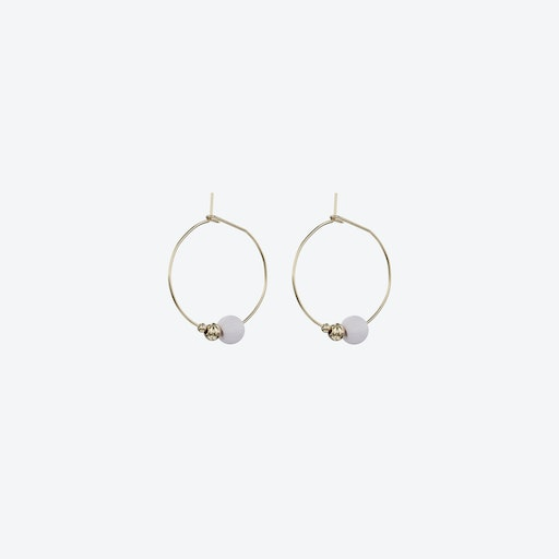 Modus Earrings in Pale Lilac & Gold