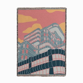 Olympia Building Woven Throw