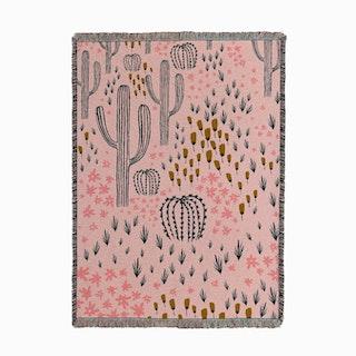 Cactus Pink Woven Throw