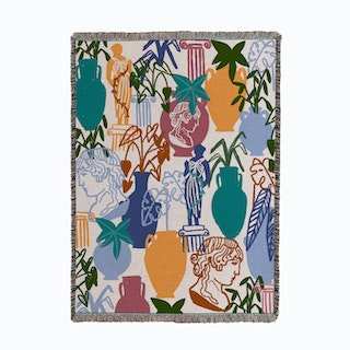 Midnight Garden Woven Throw