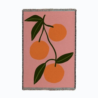 Orange Squeeze Small Woven Throw