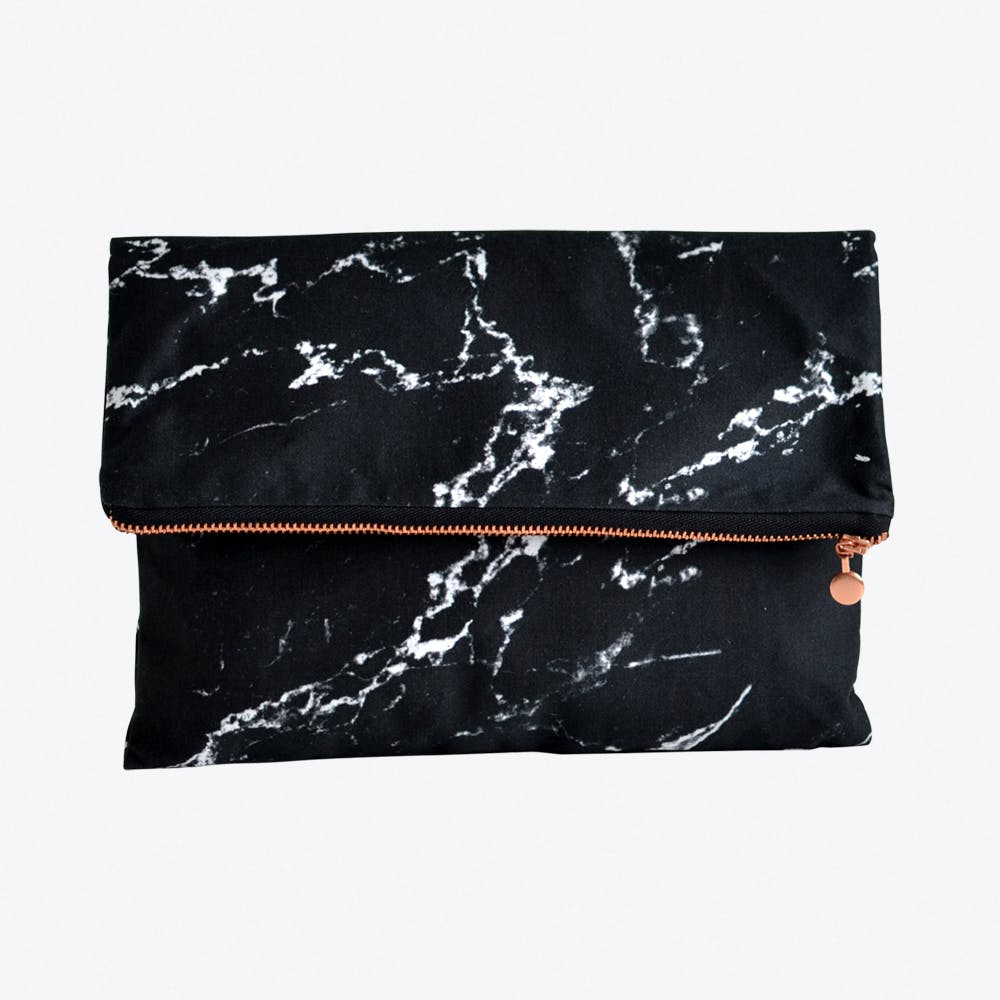 Marble Clutch in Black