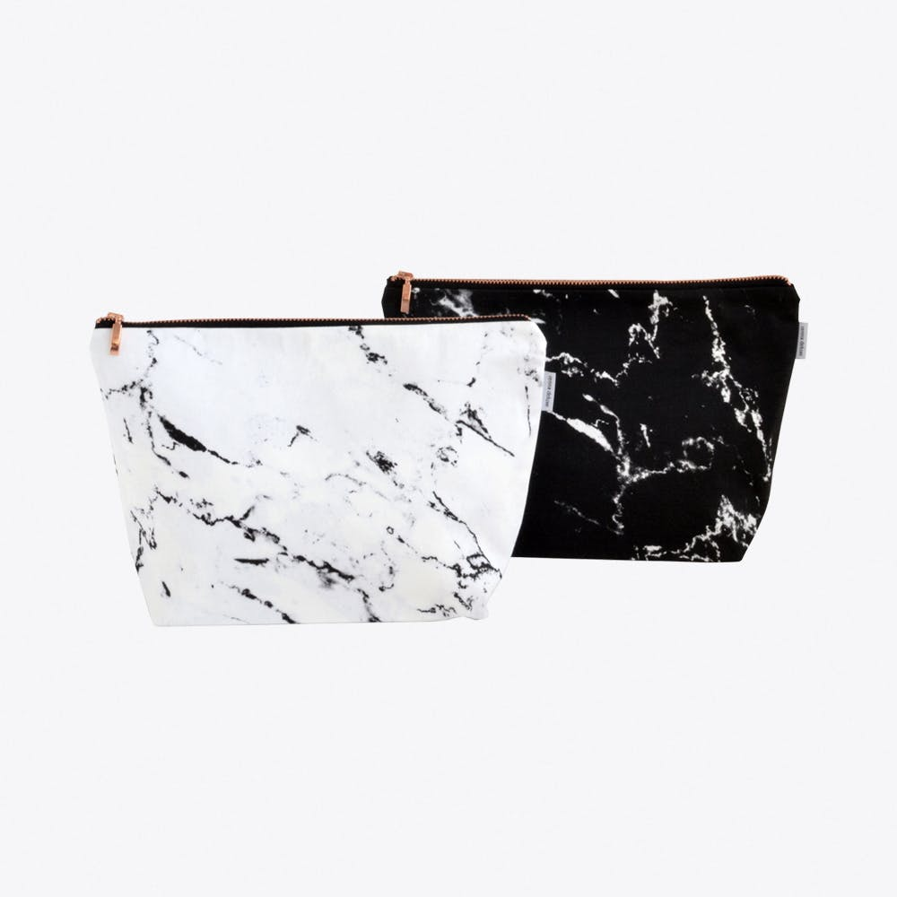 Renna Deluxe marble wash bag in white by renna deluxe fy
