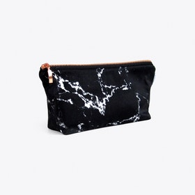 Marble Makeup Bag in Black