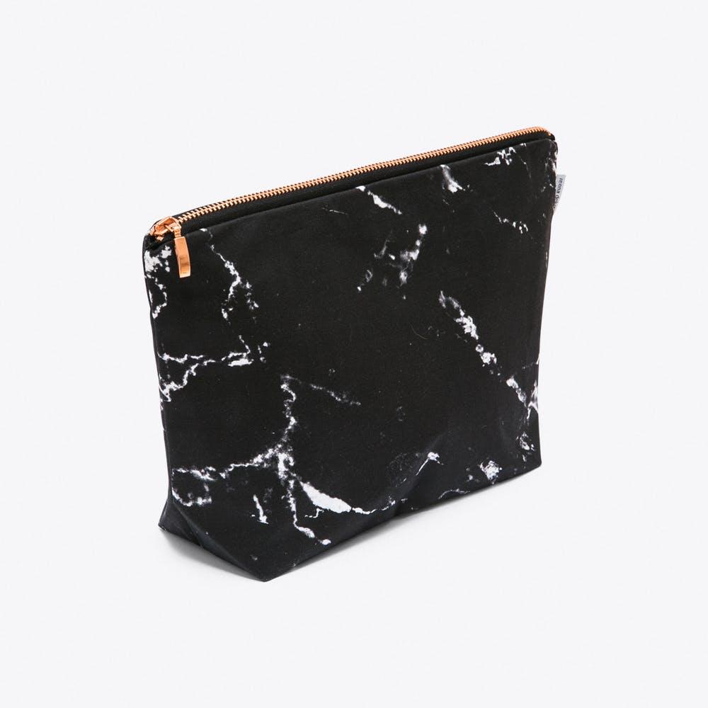 Marble Wash Bag in Black