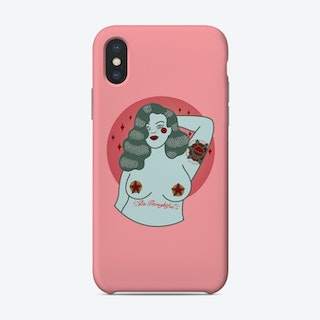 Be Thoughtful 1950s Tattooed Pin Up Girl Phone Case