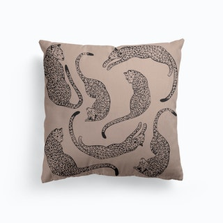 Pink Leopard Love Canvas Cushion