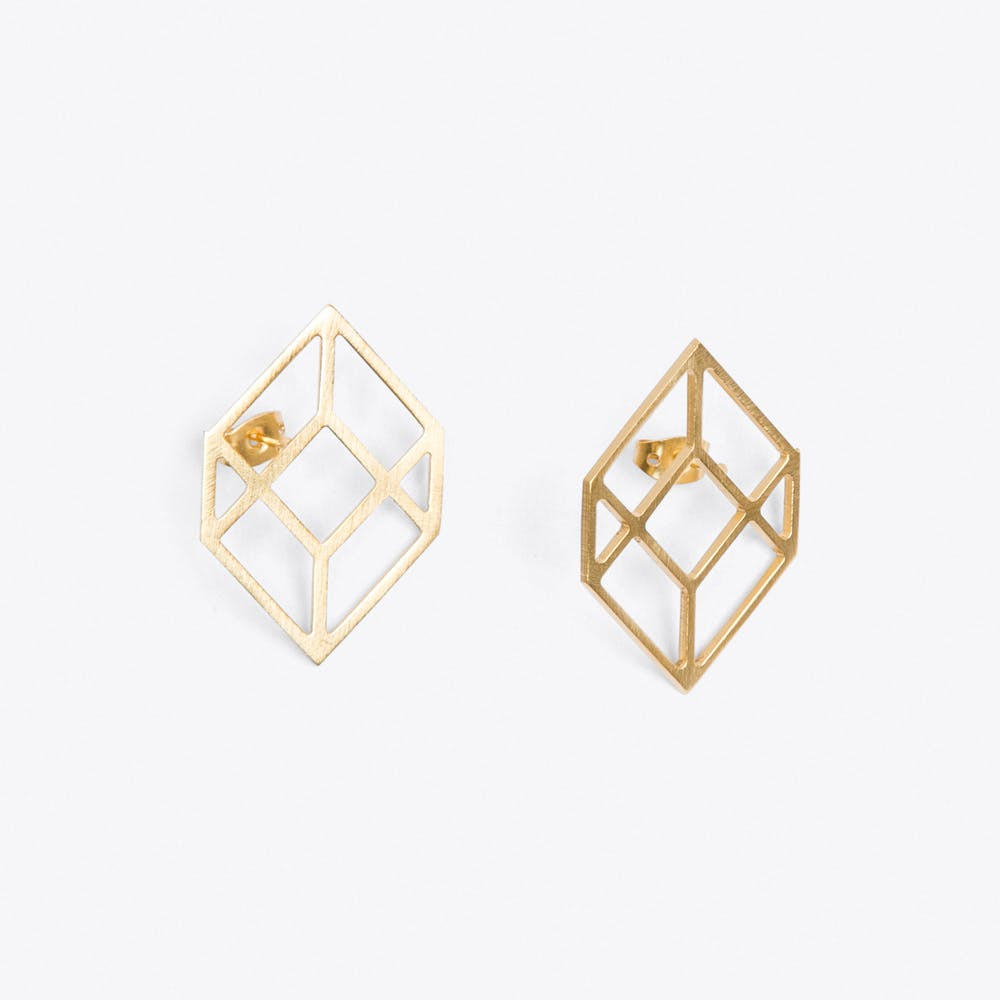 Cubic Earrings in Gold