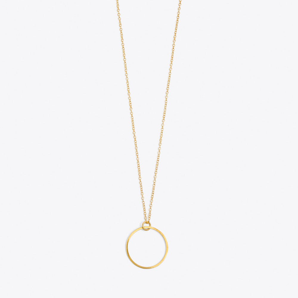 Circle Necklace in Gold