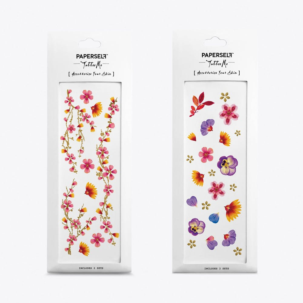 Pink Blossoms Temporary Tattoos