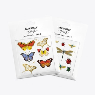 Butterflies and Bug Temporary Tattoos
