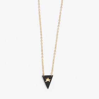 Tiny Star Necklace in Black