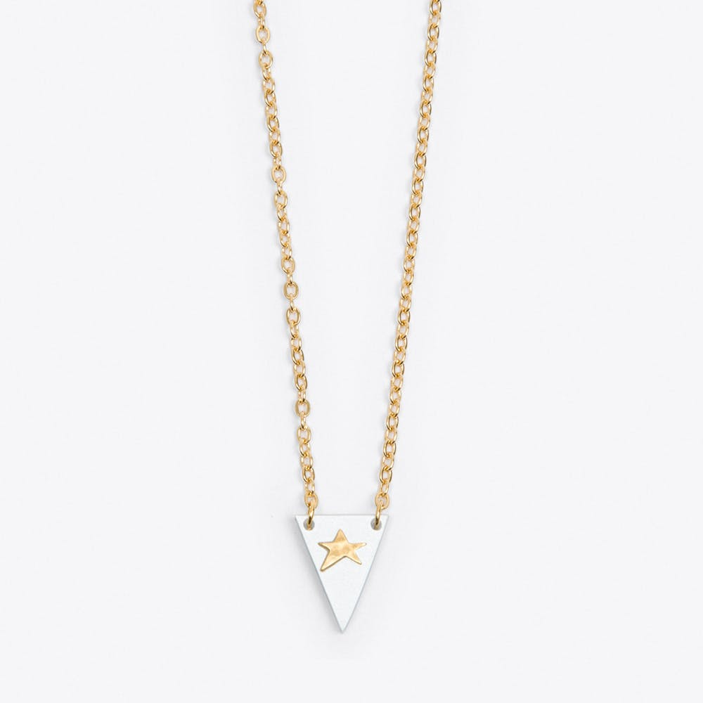 Tiny Star Necklace in White