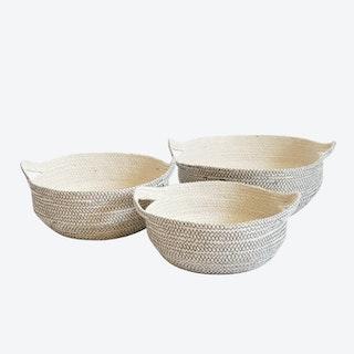 Amari Fruit Bowls - Black - Set of 3