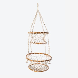 Jhuri Double Hanging Baskets - Natural