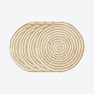 Kata Spiral Placemats - Natural - Set of 4