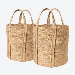 Kata Baskets with Handles - Natural - Set of 2