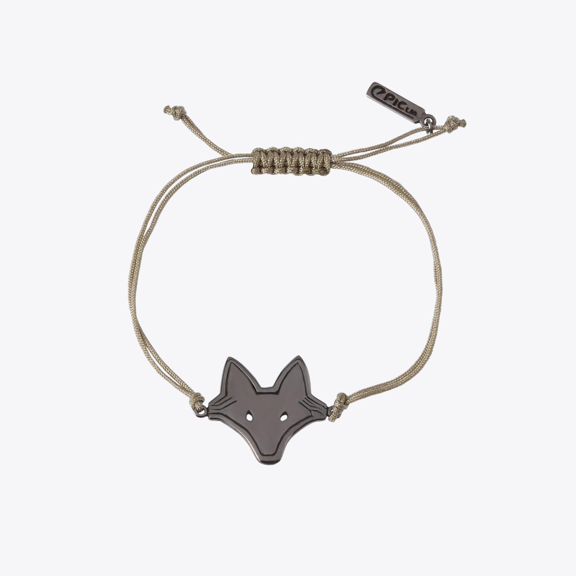 Foxy String Bracelet In Black Rhodium