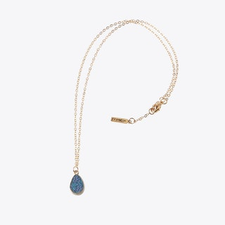Rainbow Dot Necklace In Gold