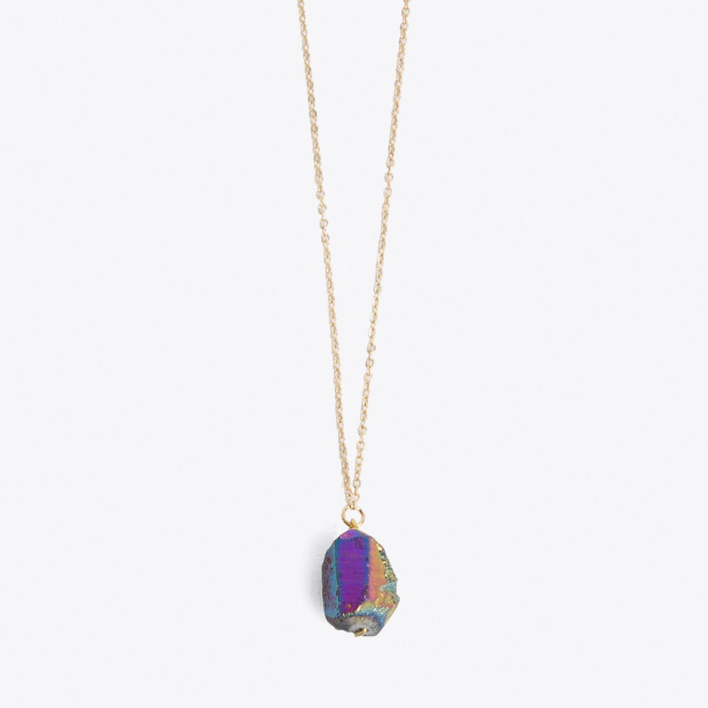 Rainbow Nugget Necklace