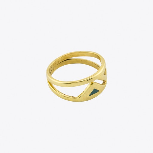 Fin Double Ring