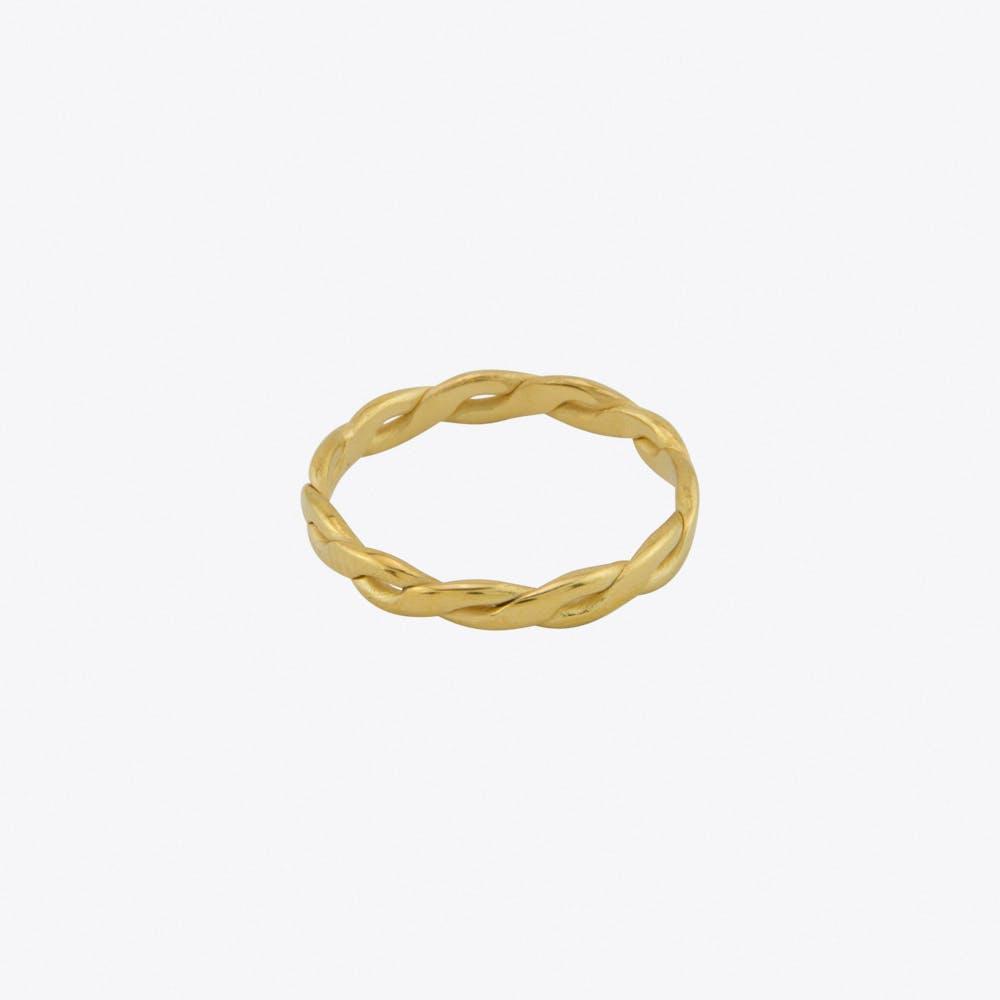 Volume Midi Ring in Gold