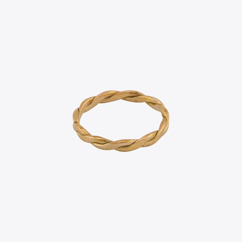 Volume Midi Ring in Rose Gold
