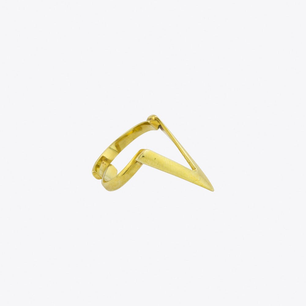 Triangle Ring in Gold