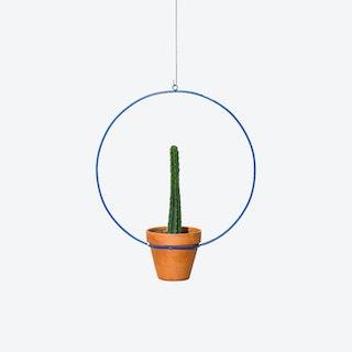 Circle Hanging Planter - Blue