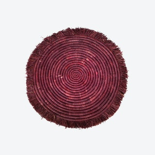 Fringed Charger Trivet - Burgundy