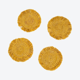 Fringed Coasters - Sunset - Set of 4