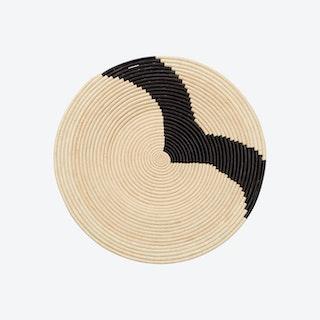 Striped Plate II - Black / Natural