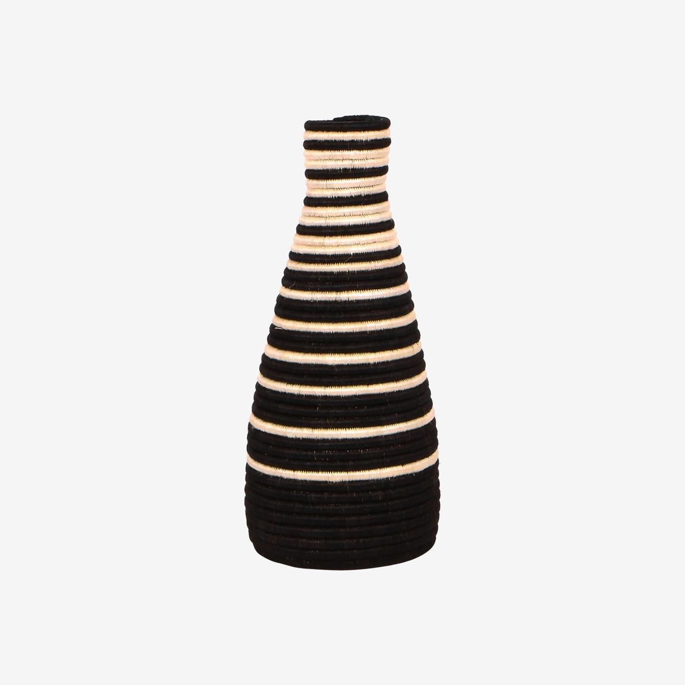 Striped Vase Black By Kazi Fy