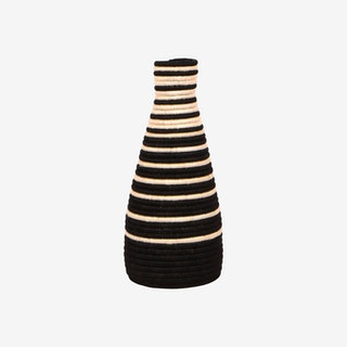 Striped Vase - Black