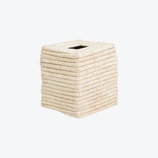 Square Tissue Box - Raffia