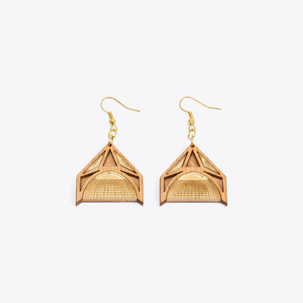 Gothic Cathedral Roof Earrings