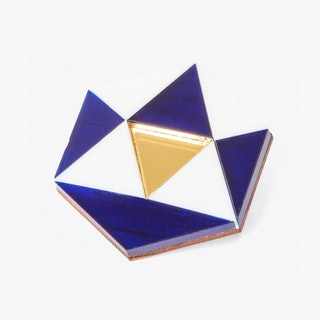 Hexagon Brooch