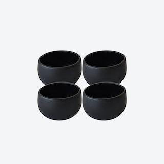 EWA Cereal Bowl - Matte Black - Set of 4