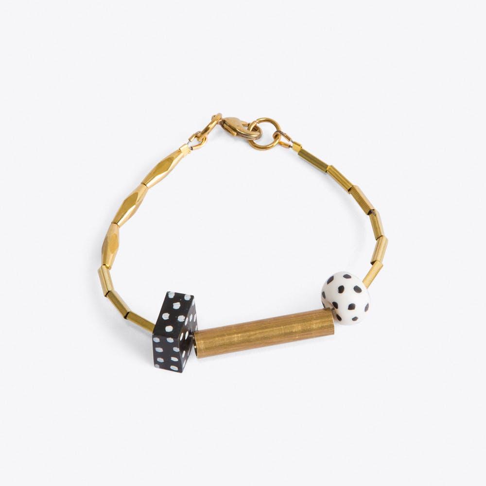 Black and White Dot Bracelet